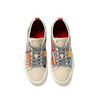 Desigual Alpha Patch Sneakers Pumps with Fun Fabric Patches