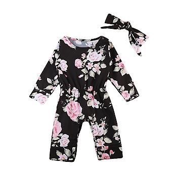 Baby Girl Romper And Headband Jumpsuit