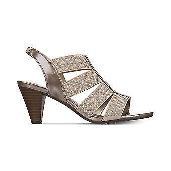 Karen Scott Womens Nicolle tecido aberto Toe ocasião especial Slingback sandálias