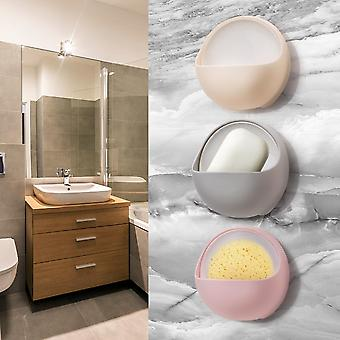 Kunststoff-Saugnapf Entleerung Seifenschale Halter & Aufbewahrungsregal für Bad