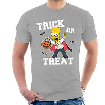 The Simpsons Trick Or Treat Bart Halloween Men's T-Shirt