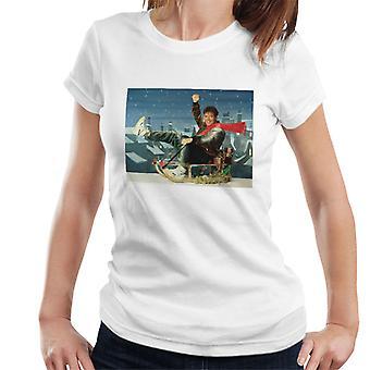 TV Times Singer Cliff Richard On A Sledge Christmas 1990 Women's T-Shirt