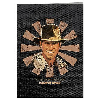 Indiana Jones Retro Japanese Greeting Card