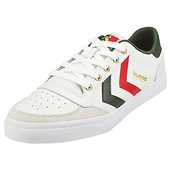 hummel Stadil Limited Low Mens Casual Trainers in White Green