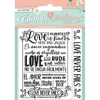 Stamperia Liebe nie scheitert klar Briefmarken