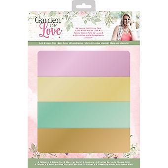 Crafter's Companion Garden of Love A4 Luxury Matt Mirror Card