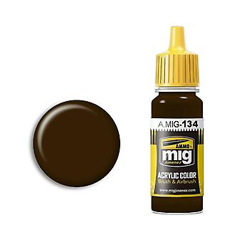 Ammo by Mig Acrylic Paint - A.MIG-0134 Burnt Brown Red (17ml)