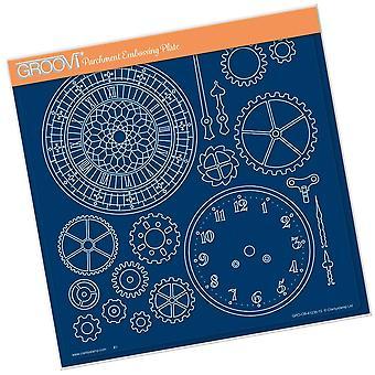 Groovi Clock Faces A4 Square Plate
