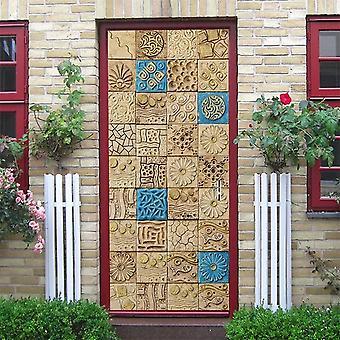 Stylish Vintage And Modern Design Self Adhesive Waterproof Removable Door