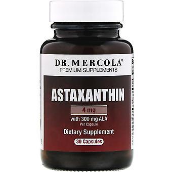 Dr. Mercola, Astaxantin, 4 mg, 30 Kapslar