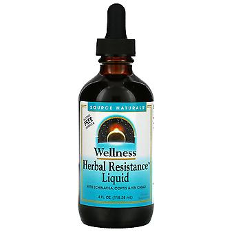 Source Naturals, Wellness, Herbal Resistance Liquid with Echinacea, Coptis & Yin