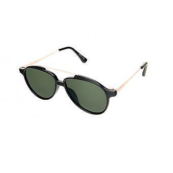 Gafas de sol Unisex Pilot negro/oro/verde (20-025)