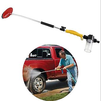 car Wash Brush Long Handle Wash Brush Kit With Squeegee Edge