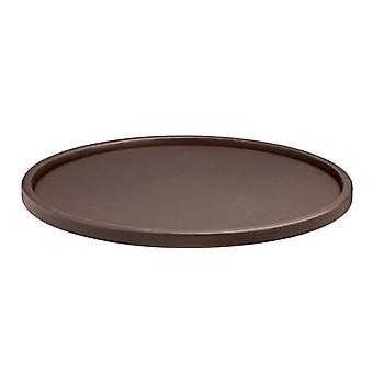 Contempo Brown 14 Inches Round Serving Tray With 1.5 Inches Rim