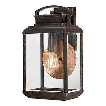 Elstead Byron - 1 luz al aire libre linterna de pared grande luz imperial bronce IP44, E27