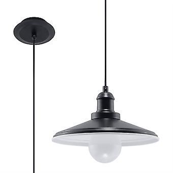 Sollux MARE - 1 Lichte Koepel Plafond Hanger Zwart, E27