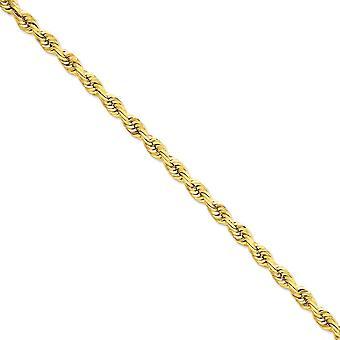 14 k aragosta Sparkle-taglio oro giallo solido artiglio chiusura 7mm D-Cut Rope barile fibbia catena cavigliera - 9 pollici