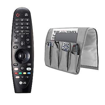 LG AN-MR19BA Magic Fernbedienung für ausgewählte 2019 LG Smart TV w / AI ThinQ mit M&W Sofa Armlehne Veranstalter