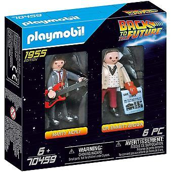 Playmobil Retour vers le futur Marty McFly et Dr Emmett Brown