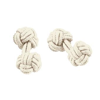 Krawatten Planet Elfenbein elastische Knoten Manschettenknöpfe