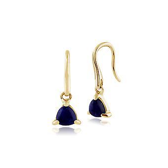 Classic Triljoona Lapis Lazuli Pudota korvakorut 9ct keltainen kulta 135E1199029