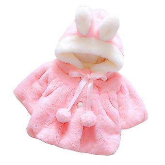 Baby Infant Autumn Winter Hooded Coat Cloak Jacket Thick Warm Clothes