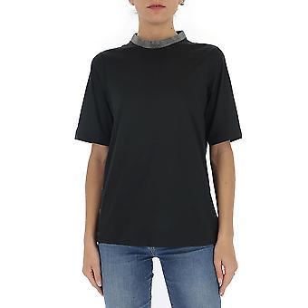 Fabiana Filippi Jed260b962c0178145 Women's Black Cotton T-shirt