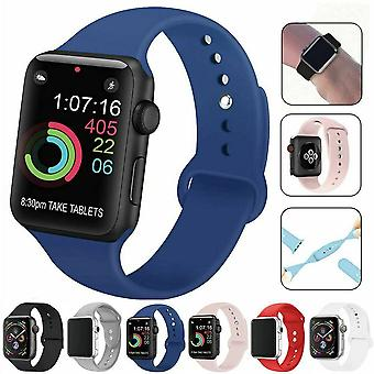 For Apple Watch Band Series 6 5 4 3 2 Sport Silicone iWatch Strap Band Wristband