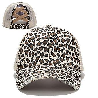 Women Ponytail Baseball Cotton Caps, Summer Snapback Hat