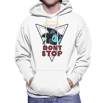 Sonic The Hedgehog Dont Stop Men's Hooded Sweatshirt
