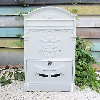 Retro Mailbox Villas Post Box European Lockable, Outdoor Wall Newspaper Boxes,