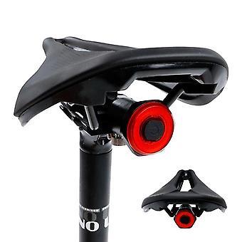 אופניים חכמים אחורי אור אוטומטי התחלה / עצירה בלם חישת מטען USB עמיד למים