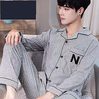 Summer Casual Striped Cotton Pajama Sets Clothes