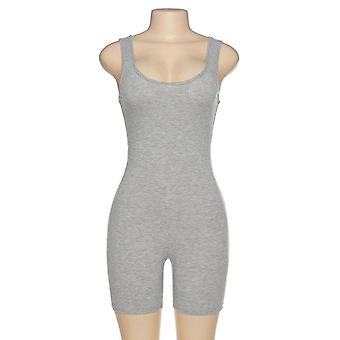 Women Sexy Jumpsuit Streetwear Sleeveless Bodycon Solid Knitted Sport Jumpsuits