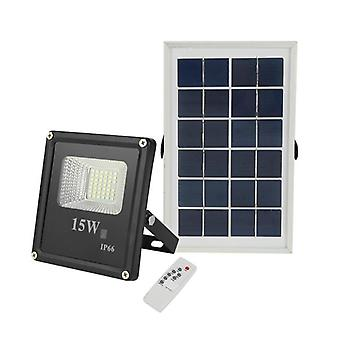 Floodlight Outdoor Spotlight - Lamp Remote Control Solar Panel For Garden