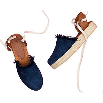 Espadrille Sandals Silvia Cobos Lace Up Denim
