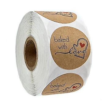 Natural Kraft Sticker Roll
