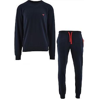 Emporio Armani Loungewear Navy Long Sleeve Crew Neck Lounge Tracksuit