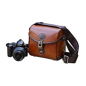 Bv & jo elegant vintage pu leather case bag compatible with nikon d3400,d3300,d3200,d3100,d5500,d530