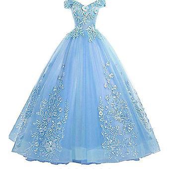 Кружевная вышивка с плеча Бальное платье