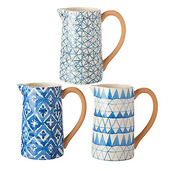 Ceramic Patterned Jugs Set of 3 By Heaven Sends (One Random Supplied)