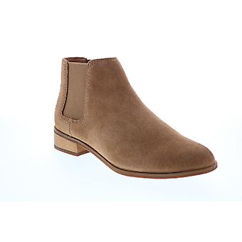 Frye & Co. Mila Chelsea  Womens Brown Suede Ankle & Booties Boots