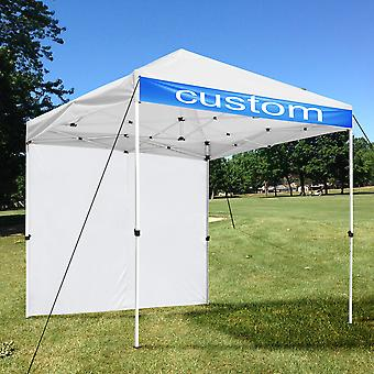 InstaHabit 10x10 Ft Pop Up Canopy with Sidewall Panel Kit Flea Market Yard Home