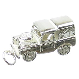 Land Rover Sterling Silver Charm .925 X 1 Jeep 4x4 Cars Off Roader Charms - 124