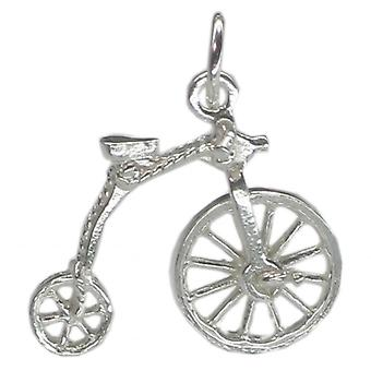 Penny Farthing Sterling Silver Charm With Moving Front Wheel .925 X 1 - 181