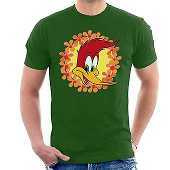Woody Woodpecker Floral Border Men's T-Shirt