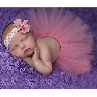 Saia de bebê tutu e conjunto de bandana