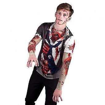 Shirt Zombie Men Polyester Bt425008