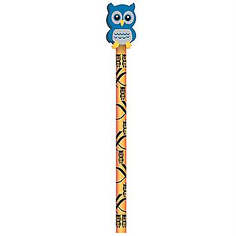 Moon Pencil & Eraser Topper Write-Ons, Hoot Owl, Pack Of 36