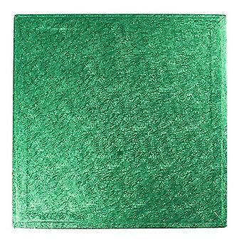 """14"""" (355mm) Cake Board Square Green - sencillo"""